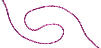 Pink tape. Twist decor, lanyard Stock Photos