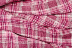 Pink tartan cloth Royalty Free Stock Photo