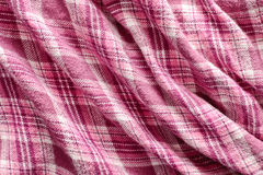 Pink tartan cloth Royalty Free Stock Image
