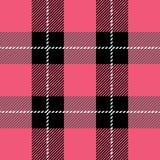 Pink tartan plaid pattern. Vector pink tartan plaid pattern for background royalty free illustration