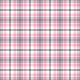 Pink tartan seamless vector patterns. Checkered plaid texture. Geometrical square background for fabric Stock Image
