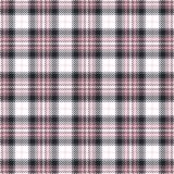 Pink tartan seamless vector patterns. Checkered plaid texture. Geometrical square background for fabric Royalty Free Stock Image