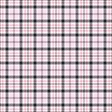 Pink tartan seamless vector patterns. Checkered plaid texture. Geometrical square background for fabric stock illustration