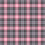Pink tartan seamless vector patterns. Checkered plaid texture. Geometrical square background for fabric royalty free illustration
