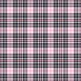 Pink tartan seamless vector patterns. Checkered plaid texture. Geometrical square background for fabric vector illustration