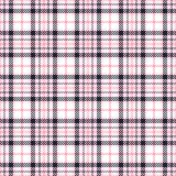 Pink tartan seamless vector patterns. Checkered plaid texture. Geometrical square background for fabric Stock Images