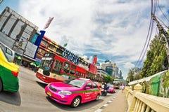 Pink taxi of Bangkok Royalty Free Stock Photo