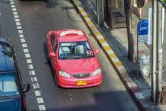 Pink taxi in Bangkok Stock Photos