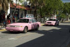 Pink Taxi's in Key West Stock Images