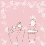 Pink tea -party Stock Images