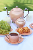 Pink tea service Royalty Free Stock Photo