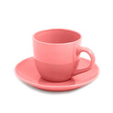 Pink teacup Royalty Free Stock Images