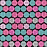 Pink And Teal Dot Pattern On Black stock photography