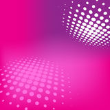 Pink Technolgy Card. Pink - Violet Technology Background With Halftone Effect Stock Photo