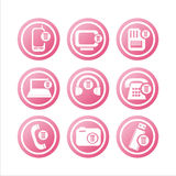 Pink technology with bins signs Stock Image