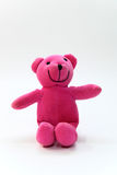 Pink teddy bear. On a white background Stock Photo