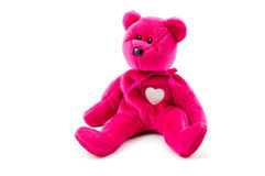 Pink teddy bear Stock Images