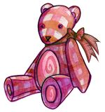 Pink Teddy Bear. With ribbon Royalty Free Stock Images
