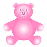 Pink teddy bear. Toy on the white background Stock Photography