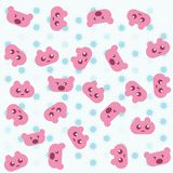 Pink teddy bear background Royalty Free Stock Images