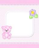 Pink teddy bear card Royalty Free Stock Photo