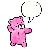 Pink teddy bear cartoon Royalty Free Stock Image