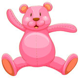 Pink teddy bear with happy face Stock Photos
