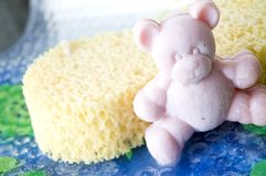 Pink teddy bear soap Royalty Free Stock Photography