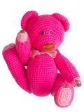 Pink teddy bear stuffed toy Royalty Free Stock Images