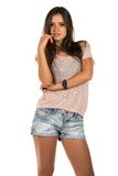 Pink tee Stock Images