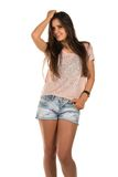 Pink tee Royalty Free Stock Images