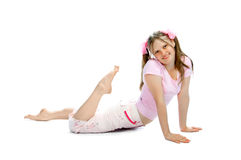 Pink teenager Stock Photography