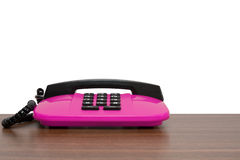Pink telephone Stock Photography