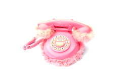 Pink telephone Stock Photo