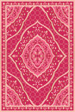 Pink template for carpet. Oriental abstract ornament. Colorful template for carpet, textile. Pink Stock Images