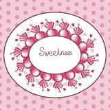 Pink template with sweets. Vector illustration Royalty Free Stock Photography