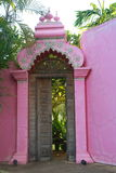 Pink temple door, india Royalty Free Stock Photography