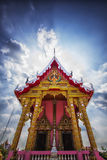 Pink temple in thailand Stock Photo