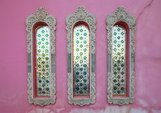 Pink temple wall, india Stock Images