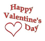 Text Happy Valentines Day Stock Photography