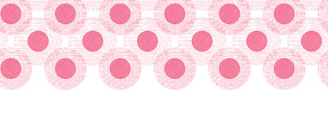 Pink textile circles horizontal seamless patter Royalty Free Stock Photo