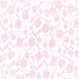 Pink textile tulips texture seamless pattern Royalty Free Stock Photography