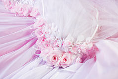 Pink textile wedding background Royalty Free Stock Photo