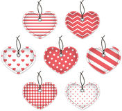 Pink textured hearts Royalty Free Stock Photos