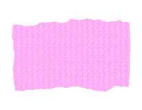 Pink Textured Paper - Ripped. Pink textured paper - jagged and ripped stock illustration