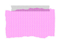 Pink Textured Paper - Ripped and Taped.  stock illustration