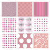 Pink textures. Different textures - pink colors - seamless Royalty Free Stock Images