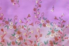 Pink Thai silk. Royalty Free Stock Photography