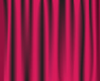 Pink theatre curtain. Background. Vector illustration royalty free illustration