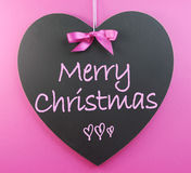 Pink theme Merry Christmas message Royalty Free Stock Photos